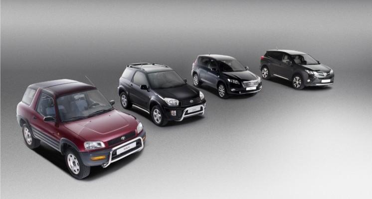 Toyota RAV4 - cztery generacje