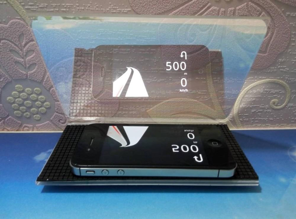 HEAD UP DISPLAY czyli... ekran odbijający obraz ze smartfonu albo tabletu, uzyskiwany dzięki specjalnej aplikacji do nawigacji