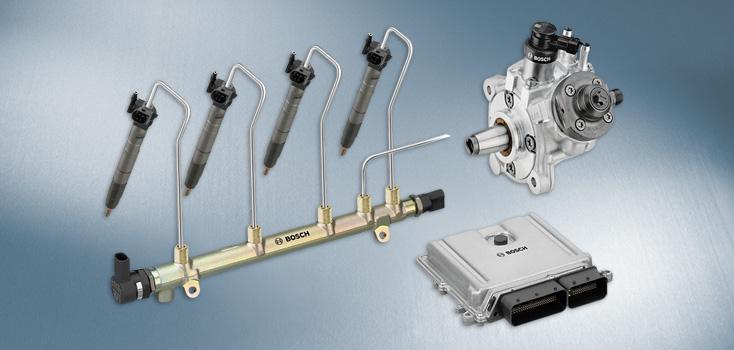 Schemat układu Common Rail firmy Bosch Źródło: de.bosch-automotive.com