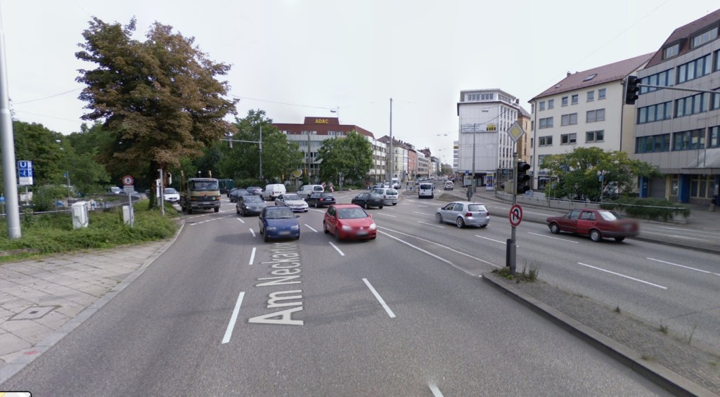 Neckartor - Stuttgart Źródło MapyGoogle